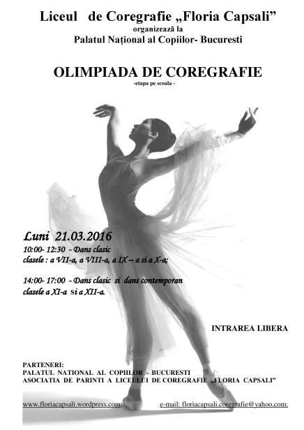 Liceul   de Coregrafie afis olimpiada-page-001
